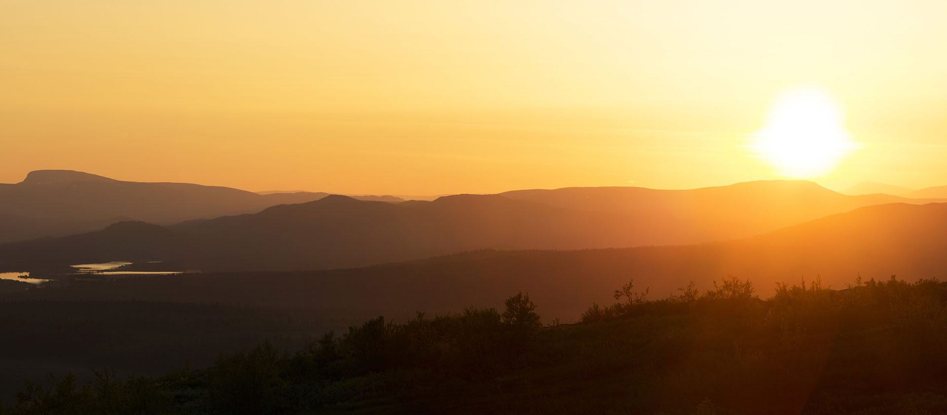 Under The Midnight Sun Swedish Lapland