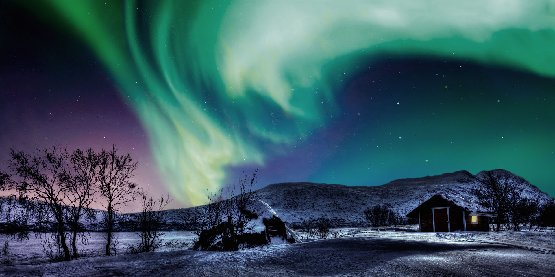 When to see the northern lights in Swedish Lapland - Swedish Lapland