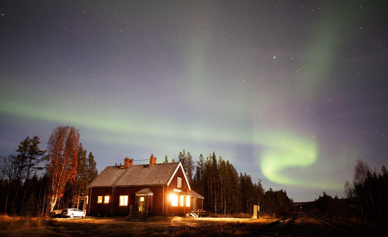 Aurora Borealis in Swedish Lapland
