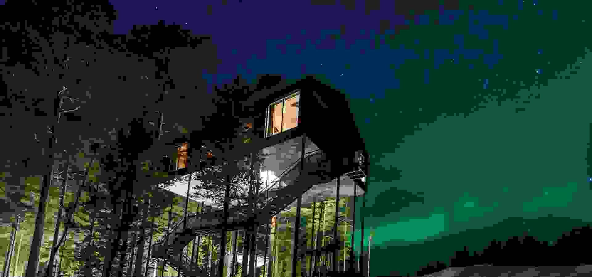treehotel, norrsken, sjunde rummet, foto: pressbild treehotel, 1920 x 900